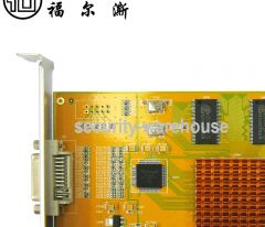 Pure hard pressure 2864 four way acquisition card preview video acquisition card playback full D1 full compatibility