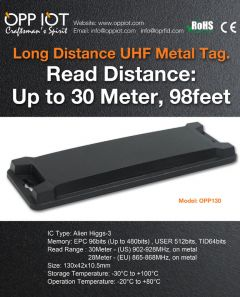 UHF metal tags withstand at 280 ℃ for 50 minutes 250℃ for 150 minutes