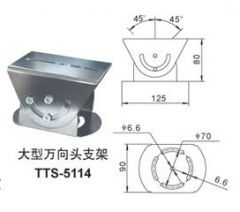 Indoor and outdoor-proof guard bracket Series PTS-5114 wall mounted plate monitor accessories