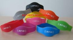 Silicone Gel Make RFID 125KHz 13.56MHz Wristband Tag for Sauna and Others Waterproof Durable 55-74mm Assorted Color