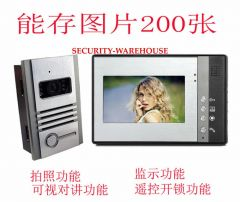 7 hands-free color cable visual doorbell Household villa video intercom doorbell pictures 200 images