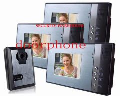 A 5 6-inch color household color visualvisual intercom doorbellvisible interphone a pair three
