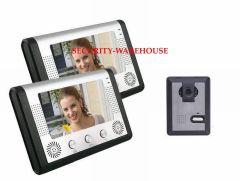 A mountain villa international household landing-answer seven inches visual intercom doorbell color LCD display metal panel