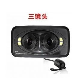 360 degree panoramic wide-angle lens dual three super car driving recorder night vision HD 1080P car parking
