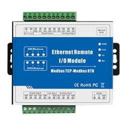 Modbus TCP Ethernet Remote IO Module 2 Digital Input 2 Digital Output 2 Analog Input M100T (Dry contact DI)