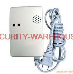 Supporting wireless burglar alarm using wireless independent gas gas detectors