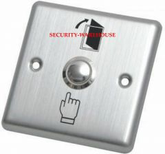 Stainless steel square out switch exit button +logo 86x86