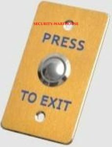 Gold Open Door Press Exit Button for Access Control Alloy Narrow Form Factor