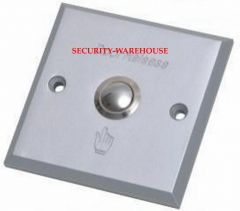 Aluminum square out switch exit button 86x86 Plain +Finger Logo