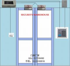 Surface mounted electric locks + ID access control + 3A power + switch + wired doorbell