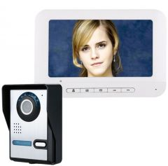 7 Inch Color LCD Video Door Phone Intercom Doorbell Night Vision Security CCTV Outdoor Camera Home Surveillance