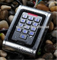 Waterproof Rugged Metal Alloy Access Control Backlight Keypad PIN & RFID 125Khz