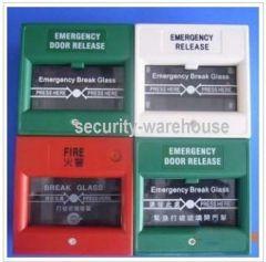 Glass Break Box Exit Button Emergency Alarm GreenRed