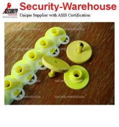 RFID LF 134 2 KHz Yellow Ear Ring Tag for Animal Agricultural Poultry Tracking Management
