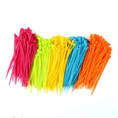 100Pcs/Pack Resueful Colorful Practical Mixed Color Plastic Cable Ties Strap 102mm X 2mm Zip Tie Cab