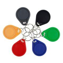 100pcs 13.56MHz RFID Keychain Key Fob MF 1K IC NFC Keyfobs Proximity Key Tag Cards for Smart Door Ac