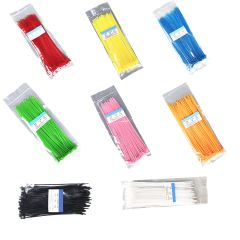 100pcs/bag Self-Locking Nylon Wire Plastic Network Cable Zip Tie Line Bundles Wrap Strap Hot