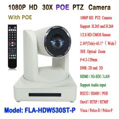 1080P 60fps 30X Optical Zoom Visca & Pelco-D/P HDMI and SDI Output HD IP POE PTZ Video Conference
