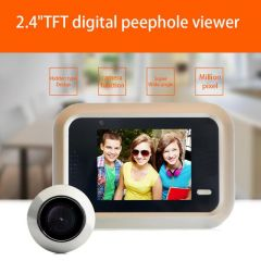 2.4 inch LCD Color Screen Wireless Doorbell WiFi Video Home Security Door Phone Intercom System Digi