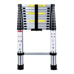 2.6M Multifunctional Portable Aluminium Alloy Telescopic Ladder Extendable Telescoping Aluminum Port