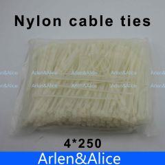 250pcs 4mm*250mm Nylon cable ties