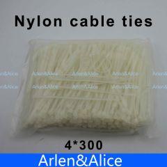 250pcs 4mm*300mm Nylon cable ties 4*300