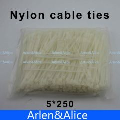 250pcs 5mm*250mm Nylon cable ties