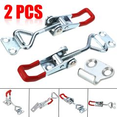 2Pcs Toggle Catch Toggle Clamp Adjustable Furniture Hardware Hasps Locks For Cabinet Boxes Lever Han