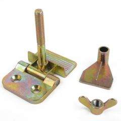 2pcs Stainless Steel Silk Screen Printing Butterfly Hinge Clamp 85x85x60mm For DIY Hobby Tool