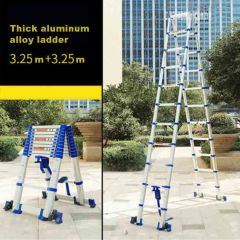 3.25M+3.25M High Quality Thickening Aluminium Alloy Herringbone Ladder Portable Household Telescopic
