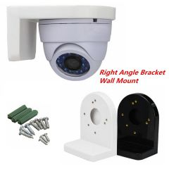 3.5 inch L Type Plastic Right Angle Bracket Wall Mount for CCTV Dome IP Security Camera