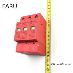 3P SPD DC 1000V 20KA~40KA  Over Under Voltage House Surge Protector Low-voltage  Arrester Device