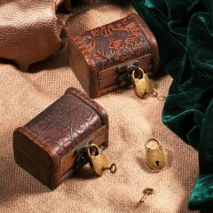 3Pcs/set Antique Bronze Plated Vintage Padlock Jewelry Chest Box Notebook Lock Luggage Belt Padlock