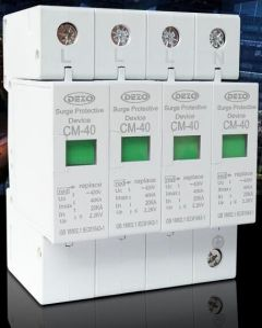4P industrial three-phase power lightning protection surge protector arrester 380V 20KA-40KA SPD
