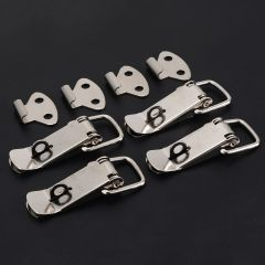 4Pcs Stainless Steel Spring Toggle Latch Catch For Case Chest Lock Box Lock Hardware Tools Mayitr