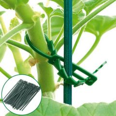 50Pcs/bag 50X Reusable Garden Plastic Plant Cable Ties Adjustable Tree Climbing Support  Garden Hort