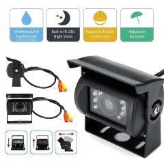 7 Inch LCD Liquid Crystal HD Car Monitor Wired Waterproof Night Vision Car Monitor Dual Camera with