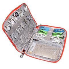 BUBM Electronics Accessories Carry Bag / Cable Organizer with Cable Tie and Handle Small Size