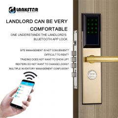 Bluetooth RFID Card Password Intelligent Lock Anti-theft Door Electronic Smart Lock Mechanical Key 3
