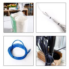 Cable Zip Ties 4+6+8+12 inch Self Locking Nylon Cable Wire Tie Black for Home Office Garden Garage