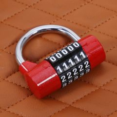 Coded Lock Alloy Combination 5 Digit Password Safety Lock Wide Shackle Combination Padlock for Backp
