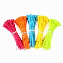 High Quality 100pcs Mixed Color Plastic Cable Ties Strap Plastic Easy to Install Plastic Tie Strap S