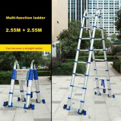 JJS511 High-quality Thick Aluminum Alloy Multi-function Ladder Engineering Ladder Portable Household