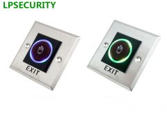 LPSECURITY NO NC infrared sensor exit button door release no touch palm shape model for gate door ac