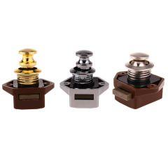 Mini Push Lock Knob RV Lock Caravan Boat Motor Home Cabinet Wardrobe Cupboard Drawer Push Latch For