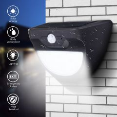 Mising LED Solar Light IP65 Solar Lamp Wall Lamp Light Sensor Outdoor Lighting for Garden Decor Land