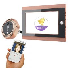 Mountainone 720P WiFi Wireless Digital Peephole Door Viewer 7inch Front Video Door Peephole Camera W
