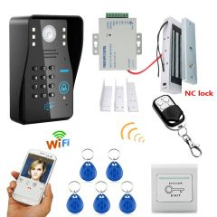 Mountainone Waterproof 720P Wireless WIFI RFID Password Video Door Phone Doorbell Intercom System
