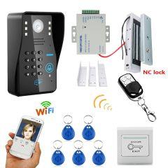 Mountainone Waterproof 720P Wireless WIFI RFID Password Video Door Phone Doorbell Intercom System