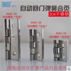 NRH8665 stainless steel spring hinge Automatic door closing Gift box package small hinge
